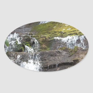 waterfall wear oval sticker
