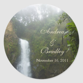 Waterfall Wedding Envelope Seal