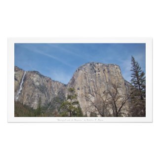 """Waterfall with the Majestic,"" Yosemite Nature Photo Art"