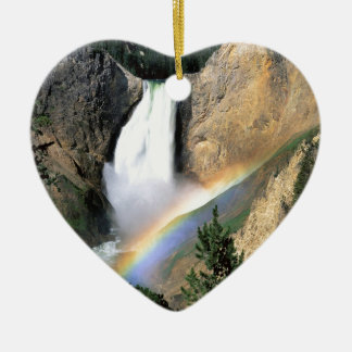 Waterfall Yellowstone Park Wyoming Christmas Ornament