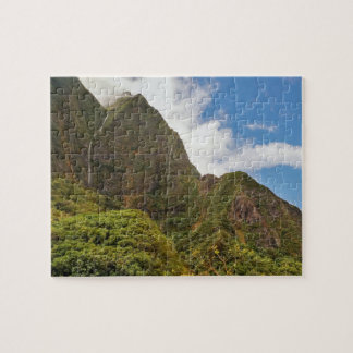 Waterfalls, after the rain, Iao Valley, Maui Jigsaw Puzzle
