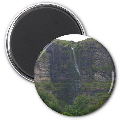 Waterfalls At Glecar Lough Fridge Magnet
