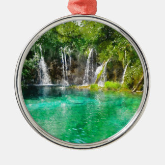 Waterfalls at Plitvice National Park in Croatia Christmas Ornament