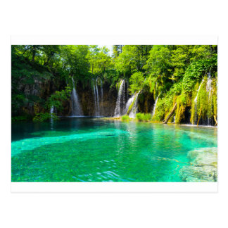 Waterfalls at Plitvice National Park in Croatia Postcard