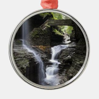 Waterfalls at Watkins Glen, NY Christmas Ornament