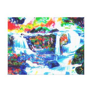 Waterfalls. Canvas Print