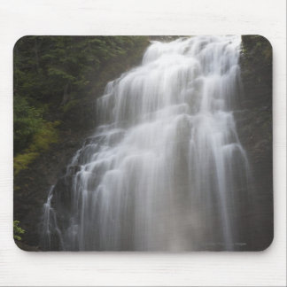 Waterfalls Flowing Down A Rock Cliff Mouse Mat