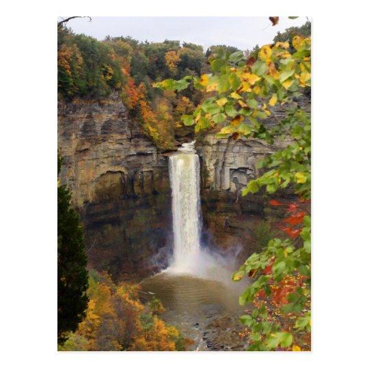 Waterfalls in Love Postcard