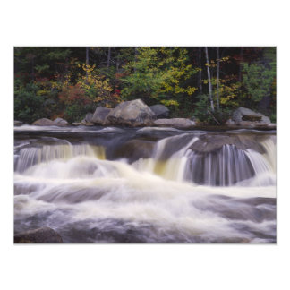 Waterfalls, Kancamagus Highway, White Photograph