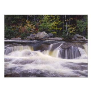 Waterfalls, Kancamagus Highway, White Art Photo
