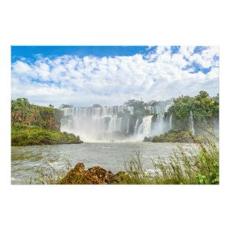 Waterfalls Landscape at Iguazu Park Art Photo