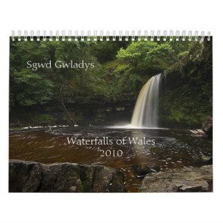 Waterfalls of Wales 2010 Wall Calendars