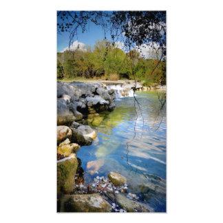 Waterfalls on Barton Creek in Aus Photo Art