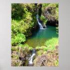 Waterfalls on the Road to Hana, Maui, Hawaii Poster