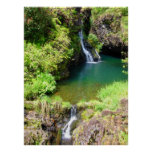 Waterfalls on the Road to Hana, Maui, Hawaii Poster