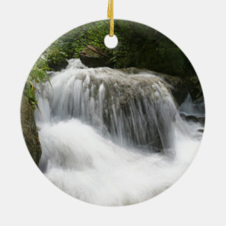 Waterfalls - Pro photo. Round Ceramic Decoration