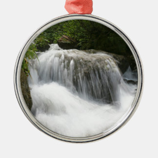 Waterfalls - Pro photo. Silver-Colored Round Decoration