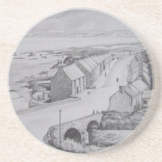 Waterfoot, County Antrim pencil drawing by Joanne  Coaster