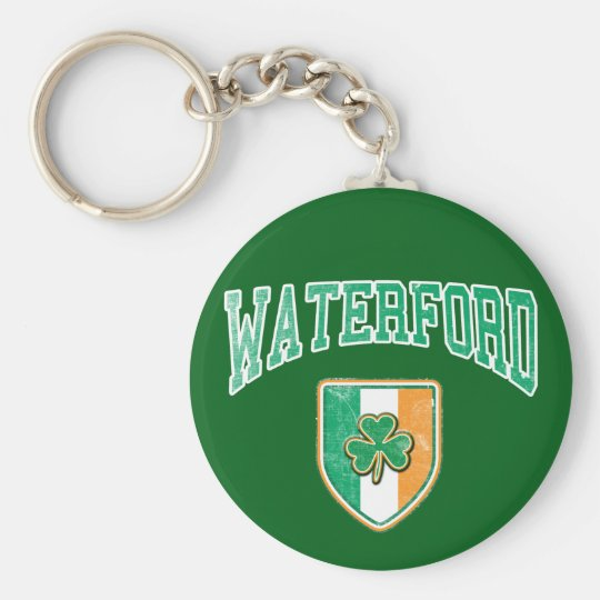 WATERFORD Ireland Basic Round Button Key Ring