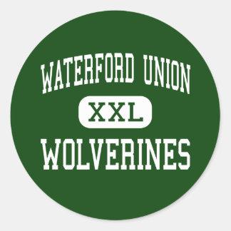 Waterford Union - Wolverines - High - Waterford Round Sticker