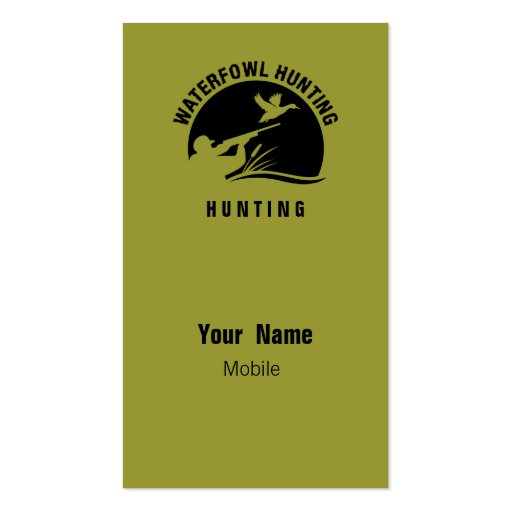 Waterfowl Hunting Business Card Template