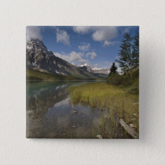 Waterfowl lake along the Icefields parkway, 15 Cm Square Badge