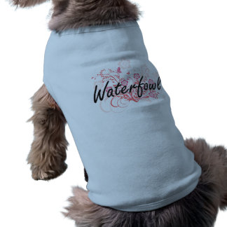 Waterfowl with flowers background sleeveless dog shirt