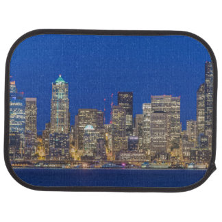 Waterfront and Downtown Skyline at Twilight Car Mat