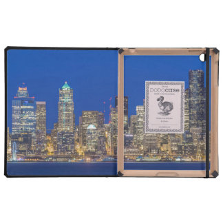 Waterfront and Downtown Skyline at Twilight iPad Case