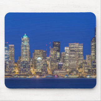 Waterfront and Downtown Skyline at Twilight Mouse Mat