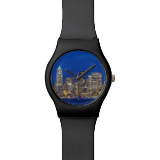 Waterfront and Downtown Skyline at Twilight Watch