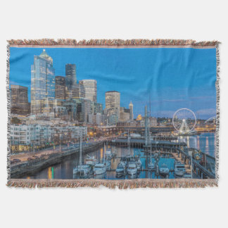Waterfront and Downtown Throw Blanket