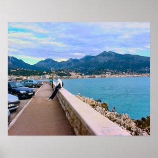 Waterfront, Mediterranean, Nice, French Riviera Poster