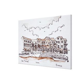Waterfront Port, Saint-Florent | Corsica, France Canvas Print