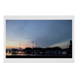 Waterfront Sunset Poster