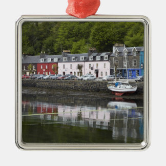 Waterfront, Tobermory, Isle of Mull, Scotland, 2 Silver-Colored Square Decoration