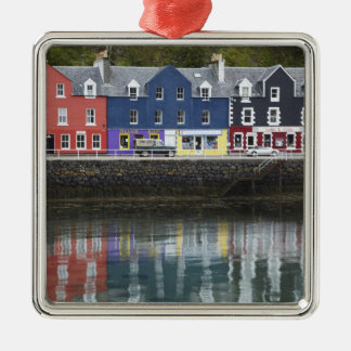Waterfront, Tobermory, Isle of Mull, Scotland, Silver-Colored Square Decoration