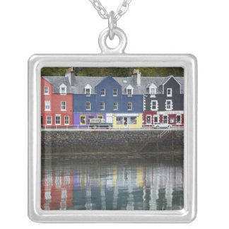 Waterfront, Tobermory, Isle of Mull, Scotland, Silver Plated Necklace