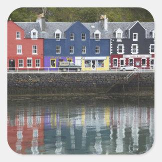 Waterfront, Tobermory, Isle of Mull, Scotland, Square Sticker