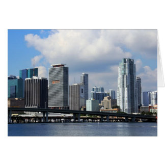 Waterfront view of Miami Card