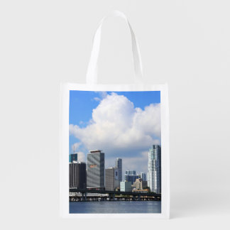 Waterfront view of Miami Reusable Grocery Bag