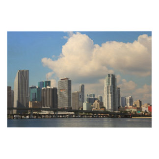 Waterfront view of Miami Wood Prints