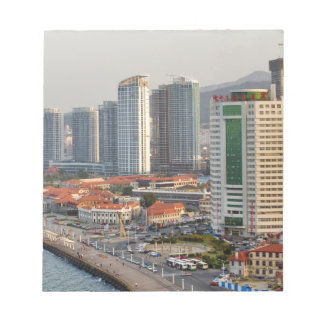 Waterfront with Yantai city skyline, Shandong Notepad