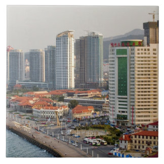 Waterfront with Yantai city skyline, Shandong Tile
