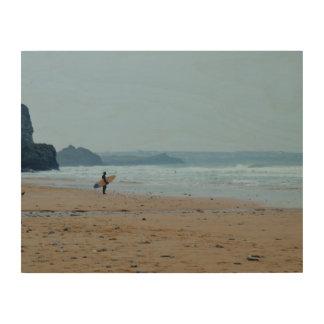 Watergate Bay Beach Newquay Cornwall England Wood Print