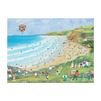 Watergate Bay Cornwall Canvas Print