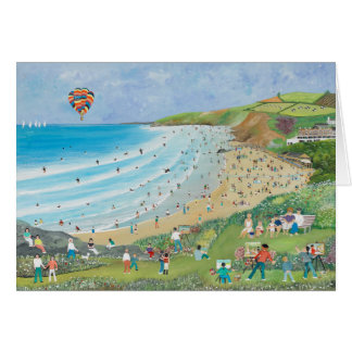 Watergate Bay Cornwall Card