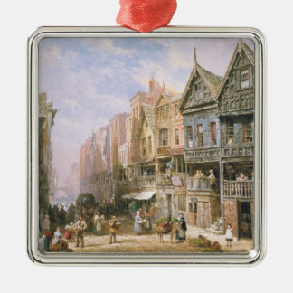 Watergate Street, looking towards Eastgate Silver-Colored Square Decoration