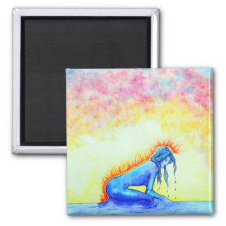Watergirl Square Magnet