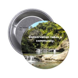 Waterhole on Goldie Bush Walk Pinback Button